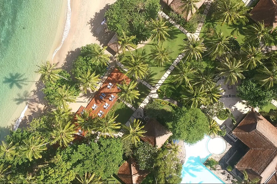 Indonesie Hotel Lombok Kila Senggigi Aerial View 02