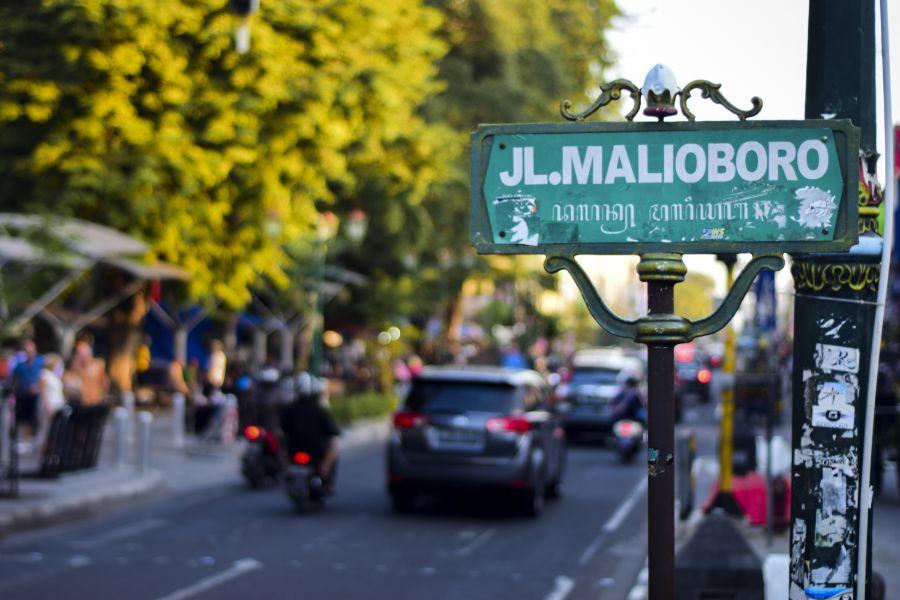 Indonesie Java Jogjakarta Jalan Malioboro