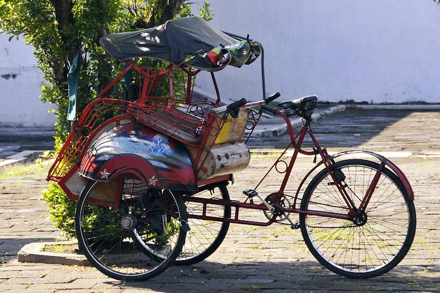 Indonesie Java Jogjakarta Traditionele Becak