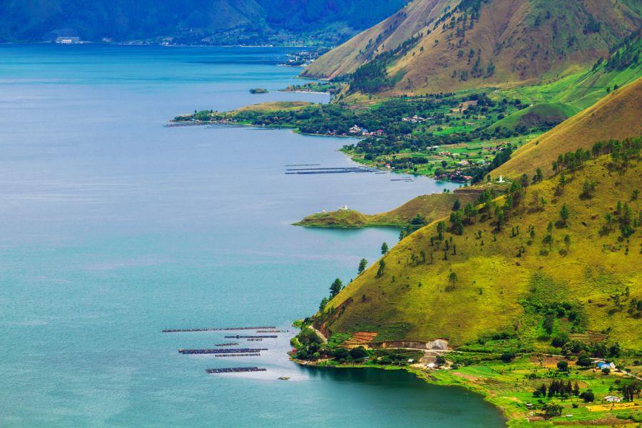 Indonesie Sumatra Medan Lake toba meer