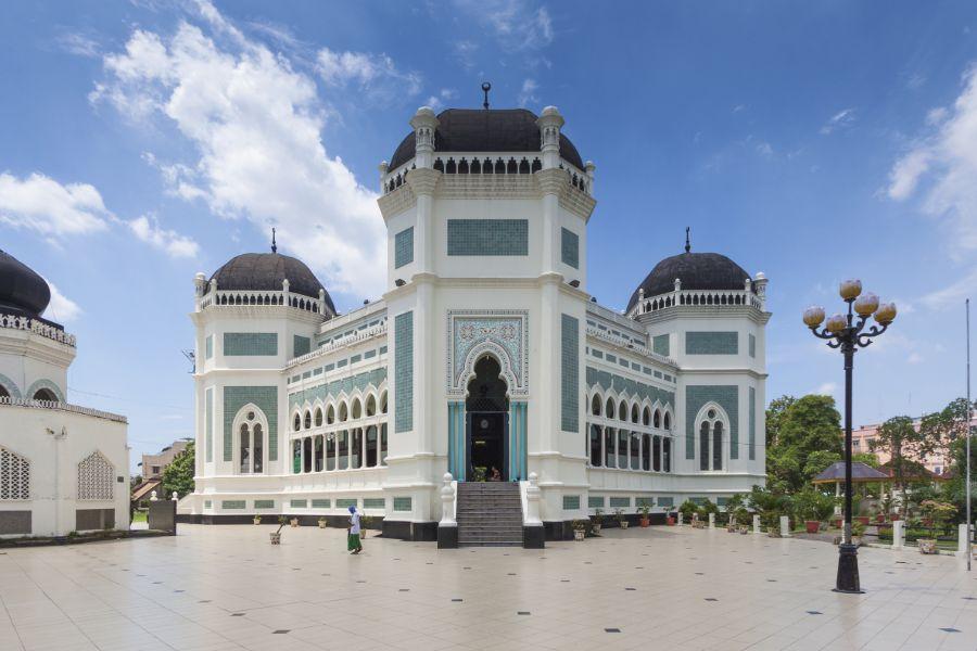 Indonesie Sumatra Medan Moskee Medan Grand Mosque Raya Medan