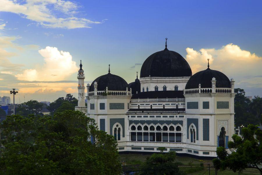 Indonesie Sumatra Medan Moskee Medan Grand Mosque Raya Medan2