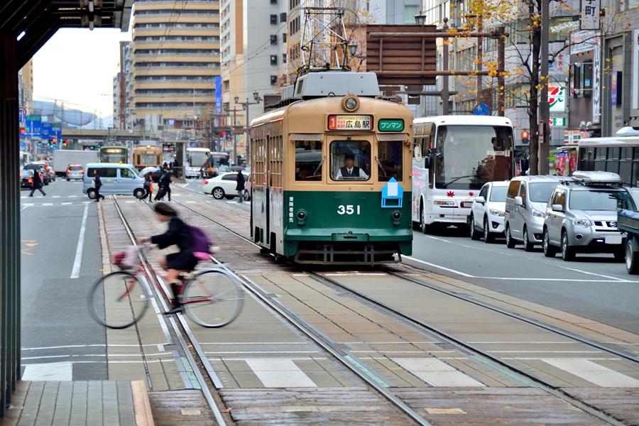 Japan Hiroshima Miyajima Tram