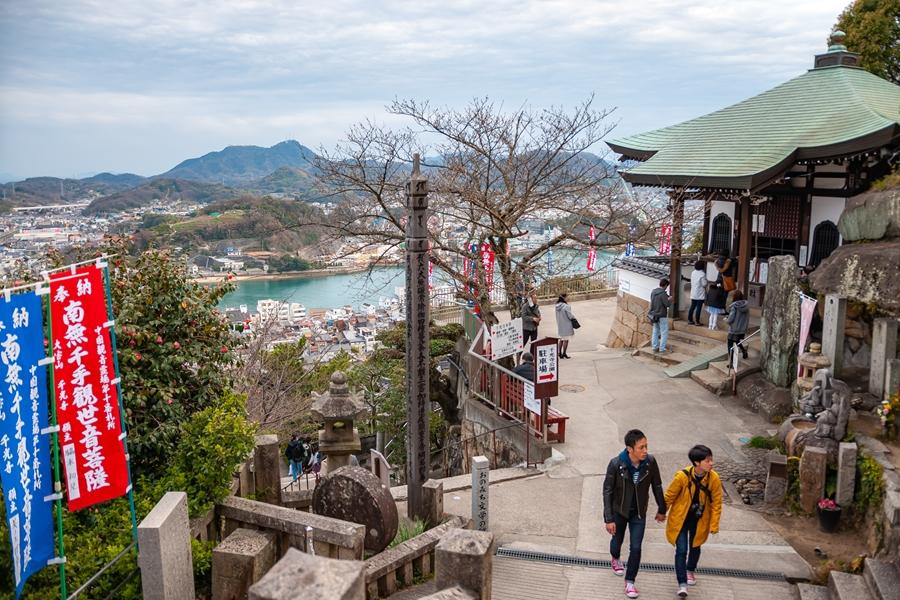 Japan Hiroshima Onomichi Daisendo uitzicht