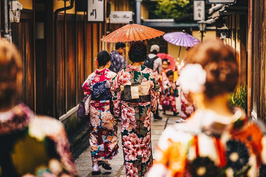 Japan Kyoto Geisha maiko kimono
