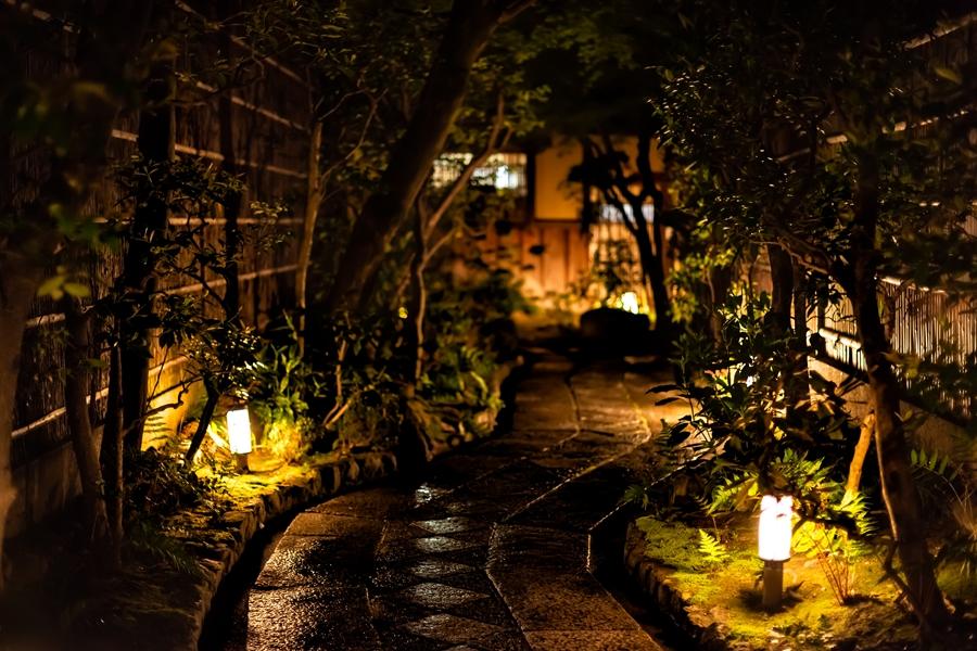 Japan Kyoto Gion district avond