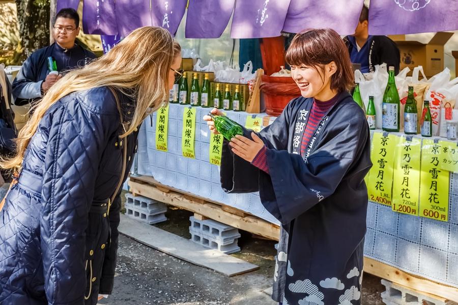 Japan Kyoto Japanse Sake markt