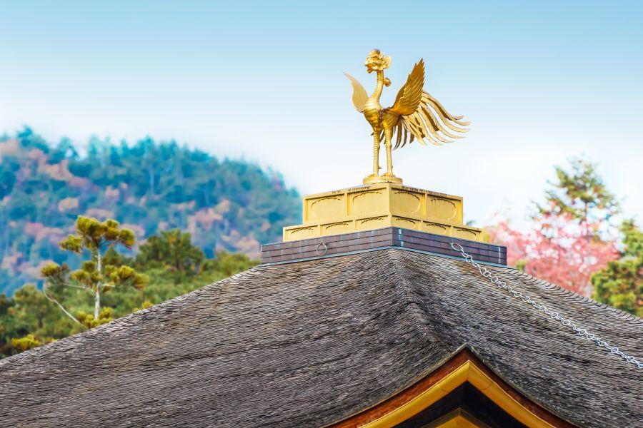 Japan Kyoto Kinkaku ji Tempel Phoenix beeld