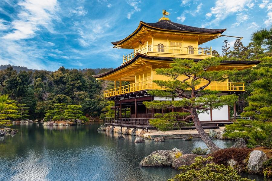 Japan Kyoto The Golden Pavilion Kinkaku ji gouden