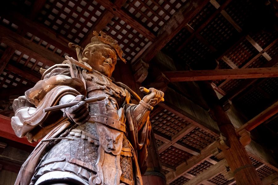 Japan Nara Todai ji tempel beeld