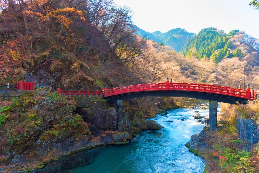 Japan Nikko Shinkyo Bridge rode brug