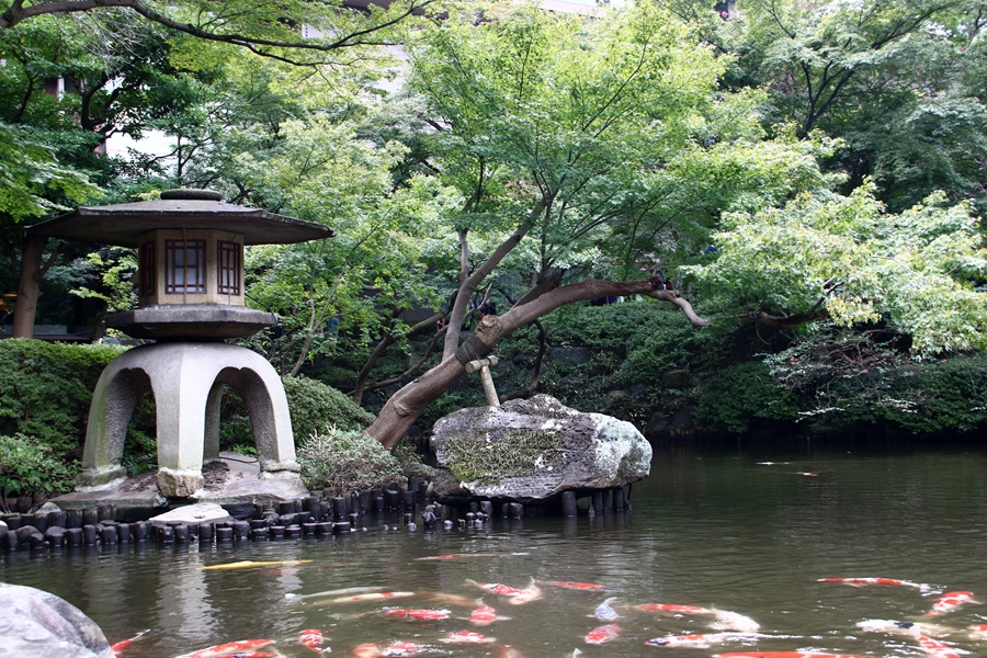 Japan Tokio Happo en tuin pagoda