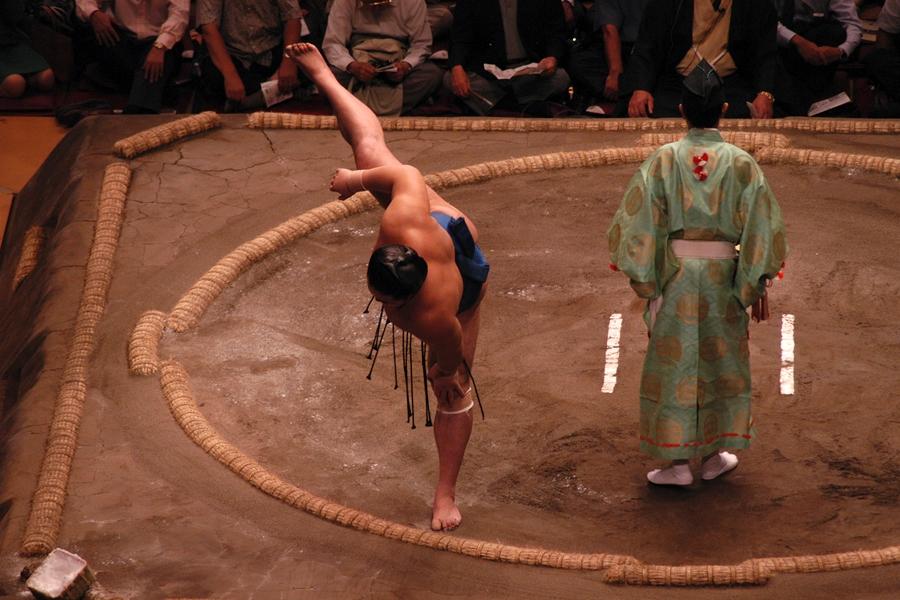 Japan Tokio Sumo worstelen strech