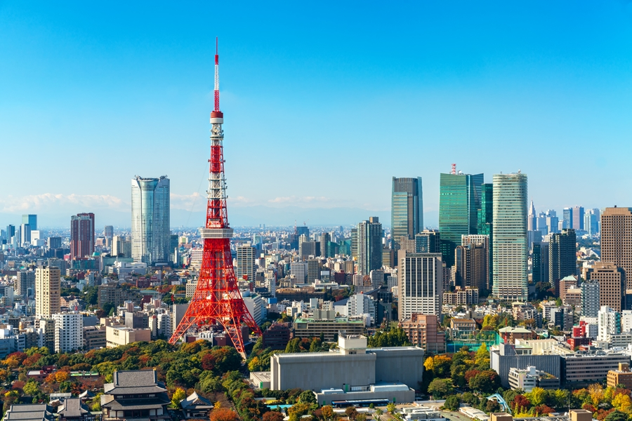 Japan Tokio Tower stad