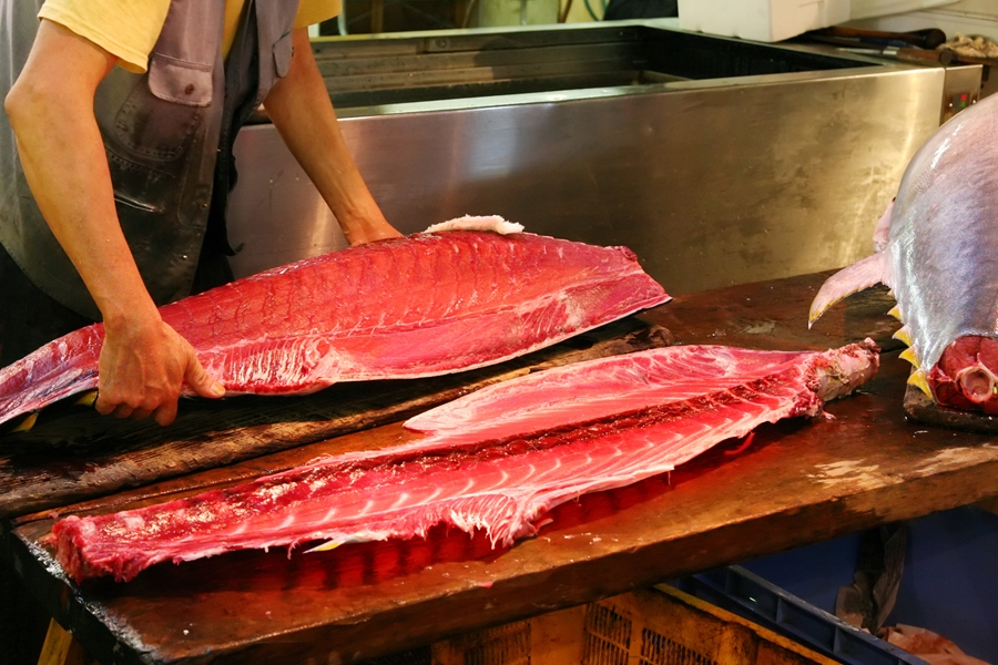Japan Tokio Tsukji vismarkt tonijn