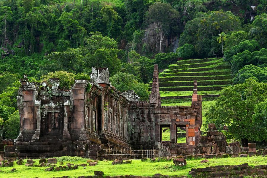 Laos Champasak Wat Phou UNESCO ruine Khmer tempel
