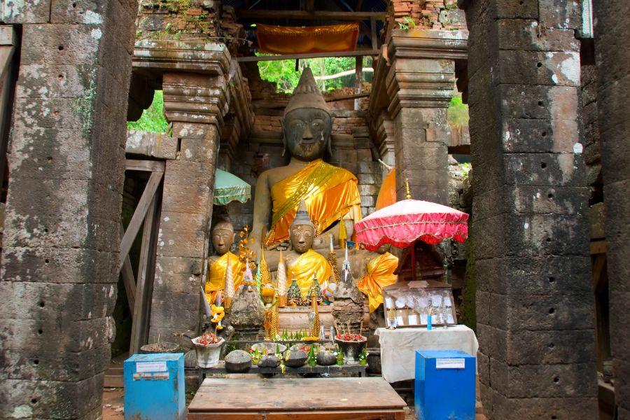 Laos Champasak Wat Phou UNESCO ruine tempel Khmer boedha