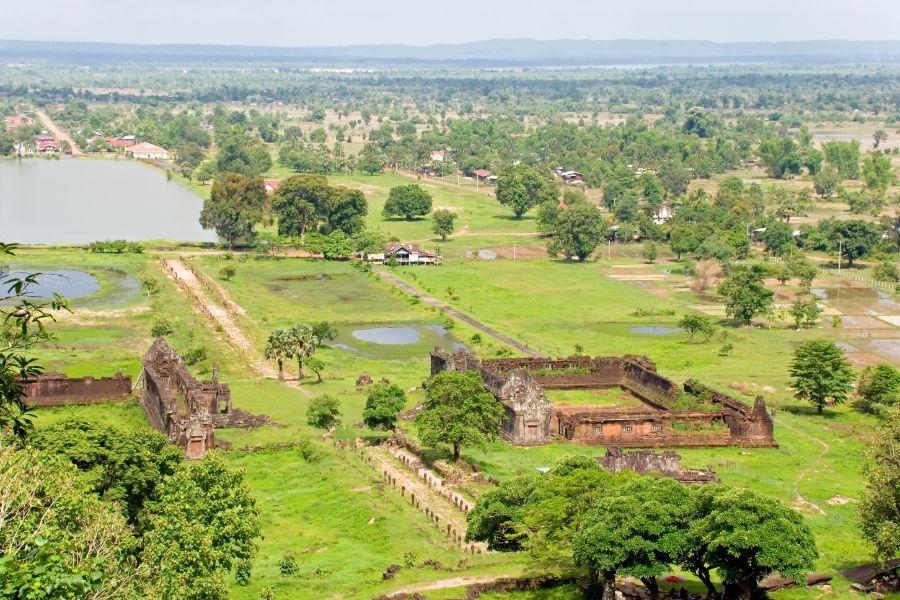 Laos Champasak Wat Phou UNESCO ruine tempel Khmer landschap