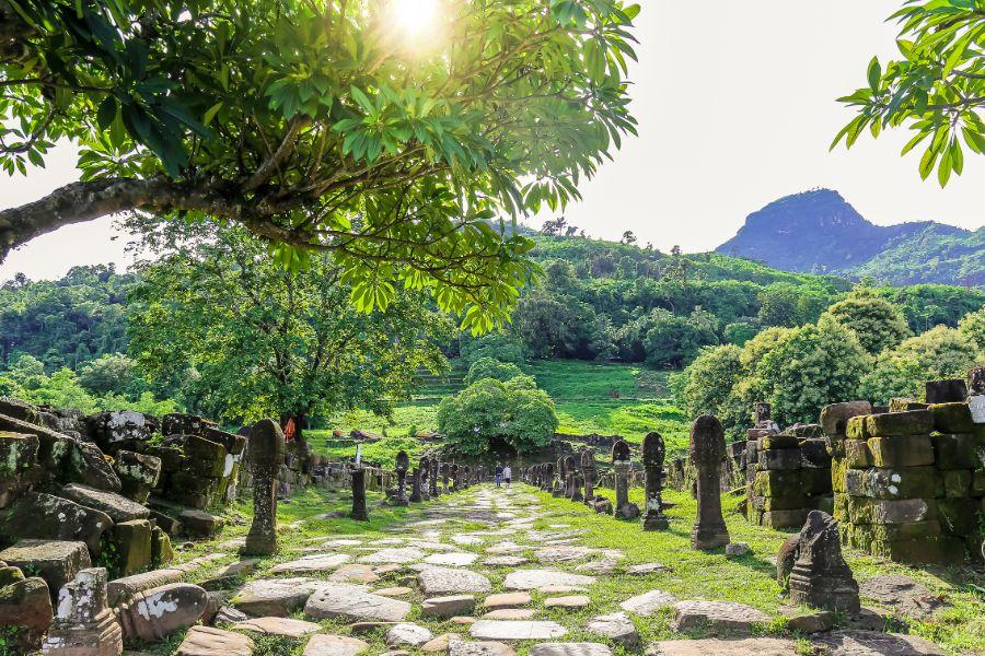 Laos Champasak Wat Phou UNESCO ruine tempel Khmer