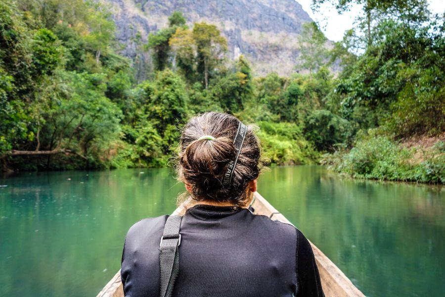 Laos Hin Boun Kong Lor cave grot mekong rivier