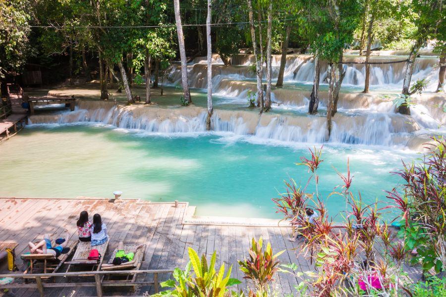 Laos Luang Prabang Tad Sae waterval