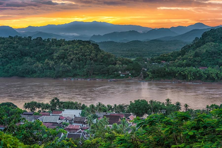 Laos Luang Prabang rivier