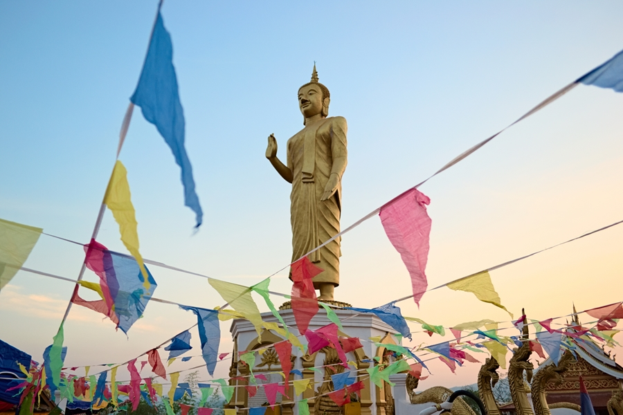 Laos Oudomxay Boeddha beeld