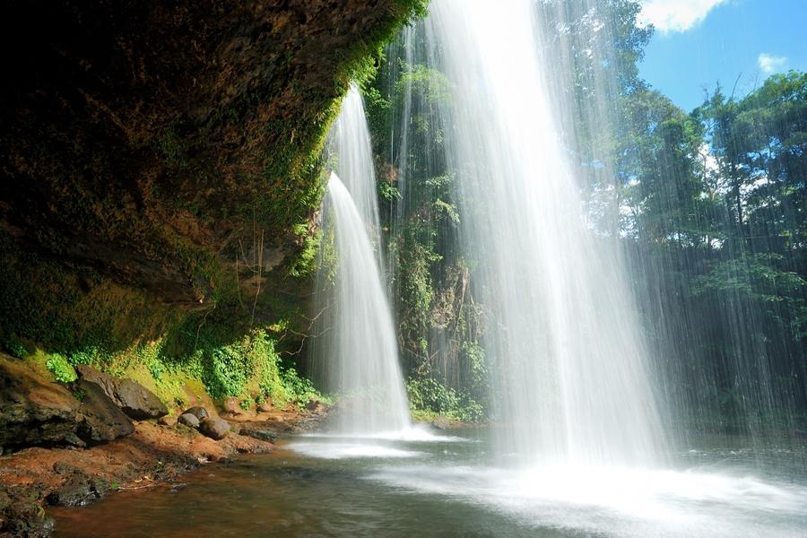 Laos Pakse watervallen