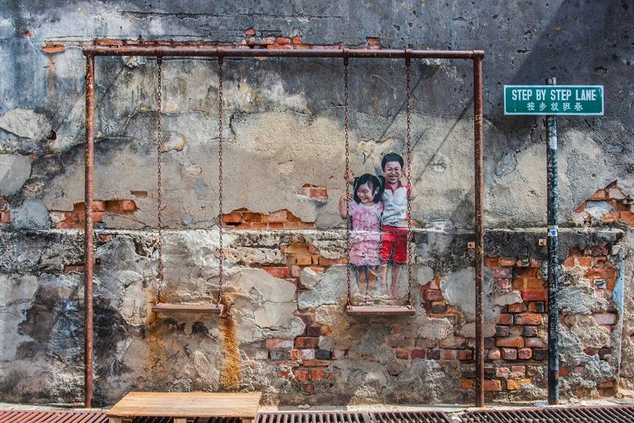 Maleisie Georgetown Penang Street art kunst