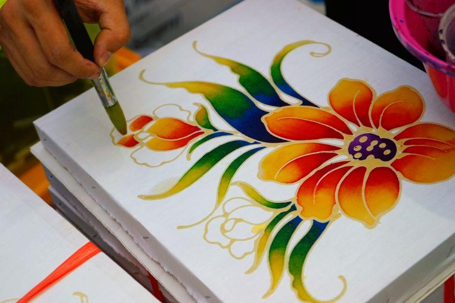 Maleisie Kuala Lumpur Batik maken kleurrijk