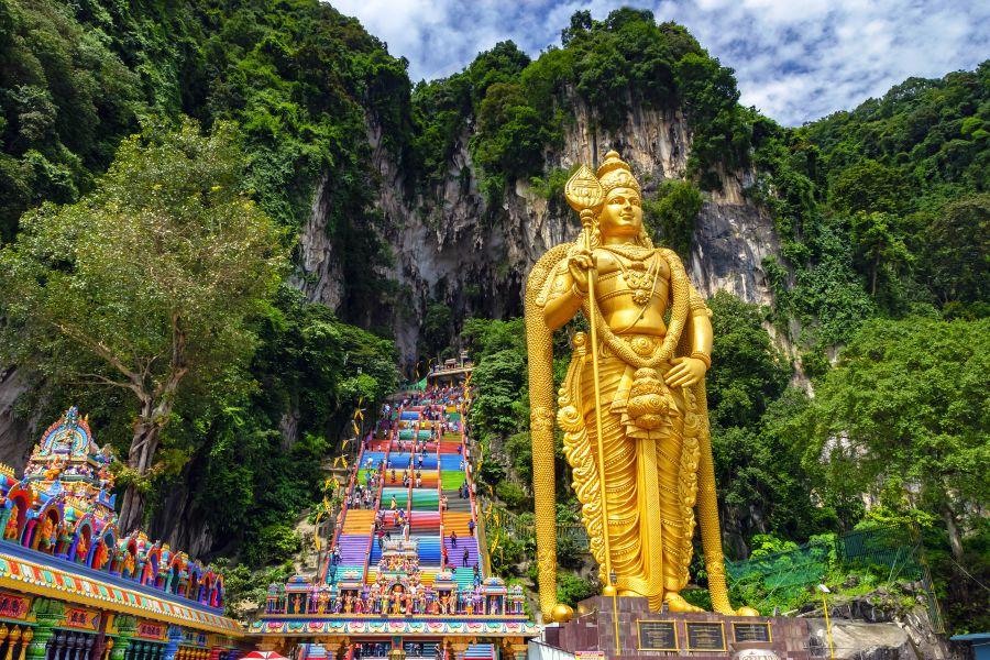 Maleisie Kuala Lumpur Batu Caves gekleurde trap