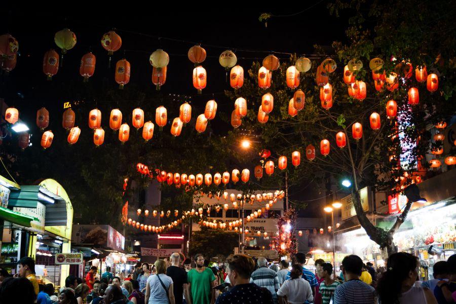 Maleisie Kuala Lumpur Jalan markt streetfood eten