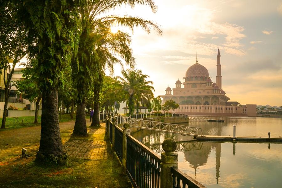 Maleisie Kuala Lumpur Putra moskee Putrajaya