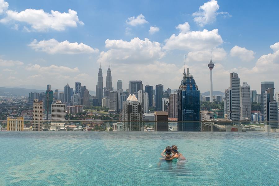 Maleisie Kuala Lumpur Skyline Twin towers Petronas