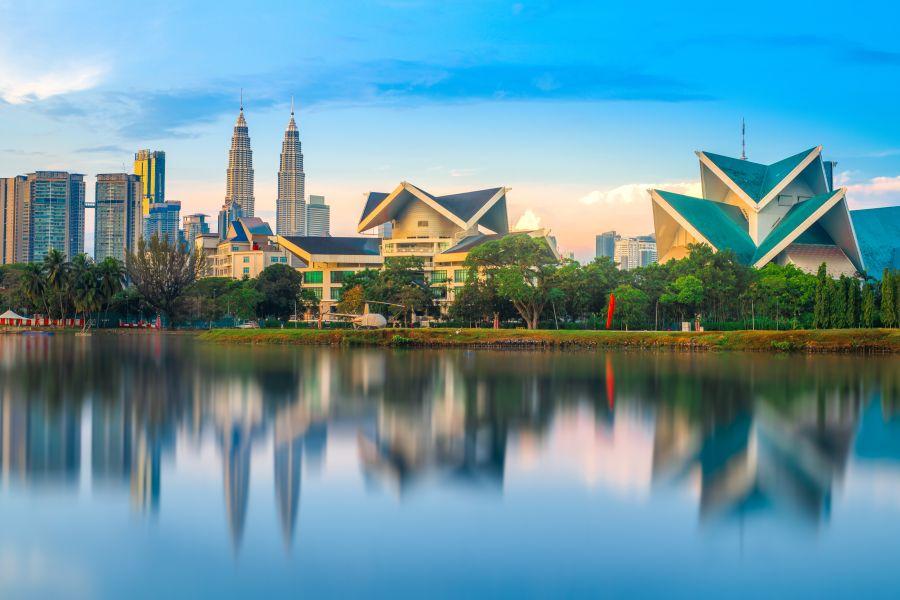 Maleisie Kuala Lumpur Twin towers Petronas meer