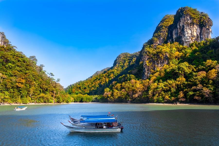 Maleisie Langkawi Boot in baai