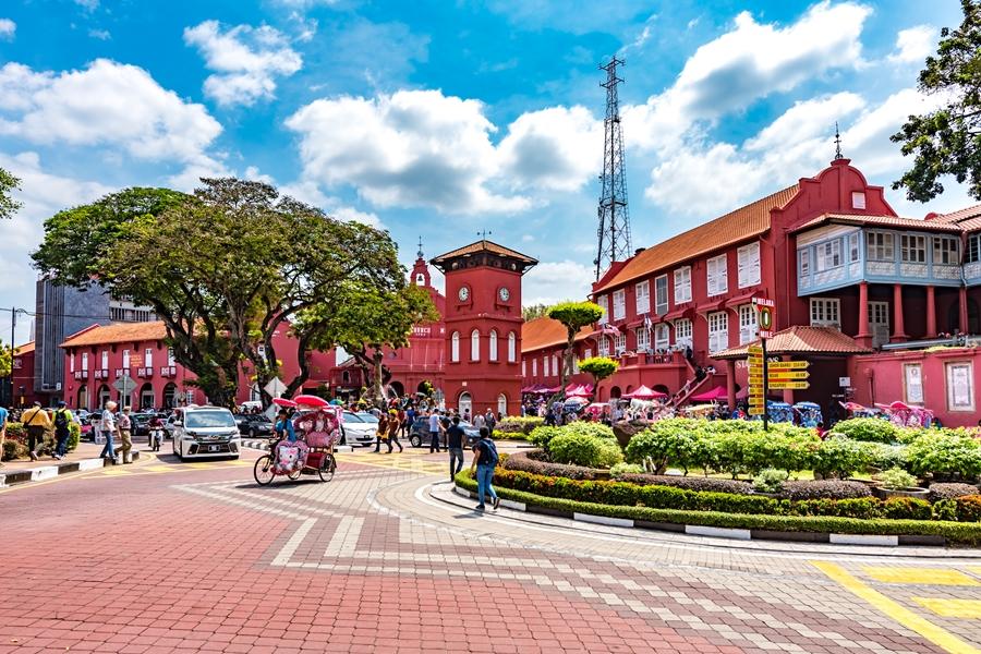 Maleisie Melaka Malacca Stadshuis en kerk