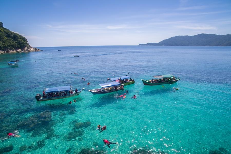 Maleisie Perhintians eilanden Snorkelen boten
