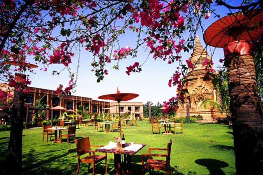 Myanmar Bagan Thazin Garden Hotel Tuin 05