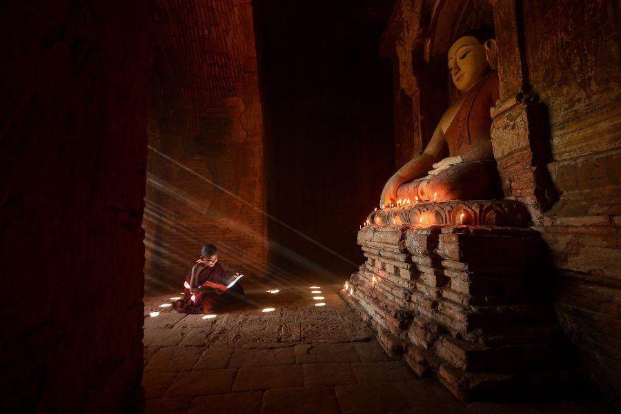 Myanmar Bagan jonge monniken