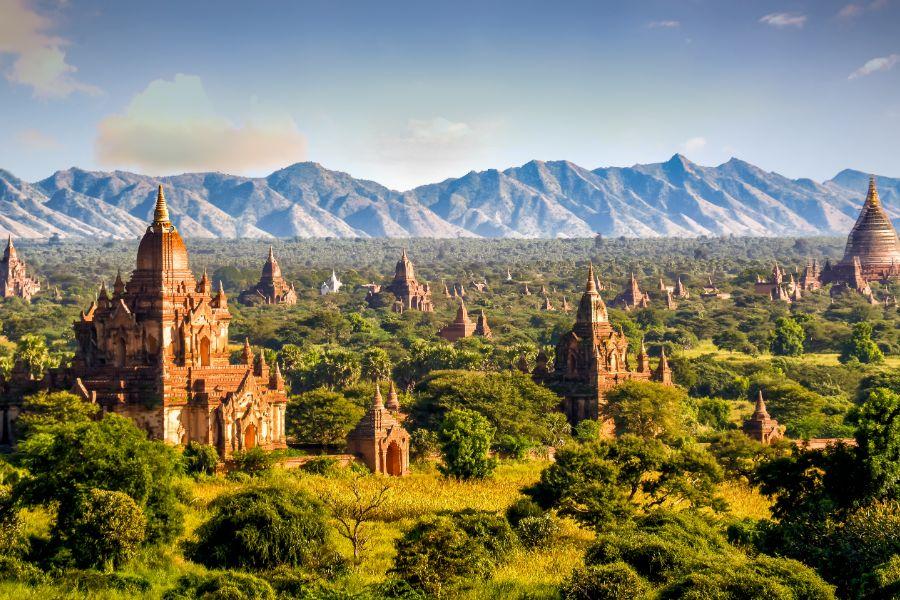 Myanmar Bagan pagodes en tempels