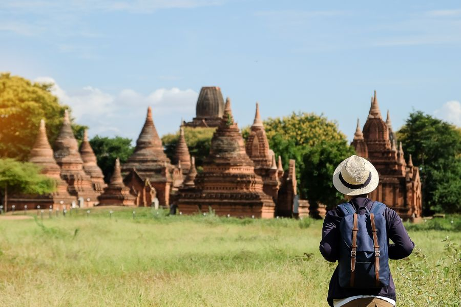 Myanmar Bagan pagodes toerist