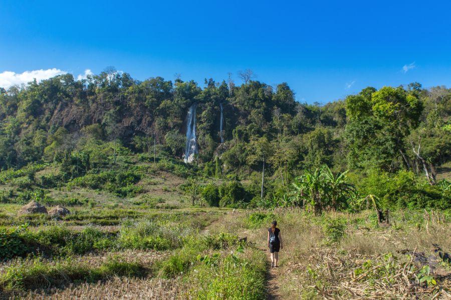 Myanmar Hsipaw Nam Hu Nwe Falls waterval