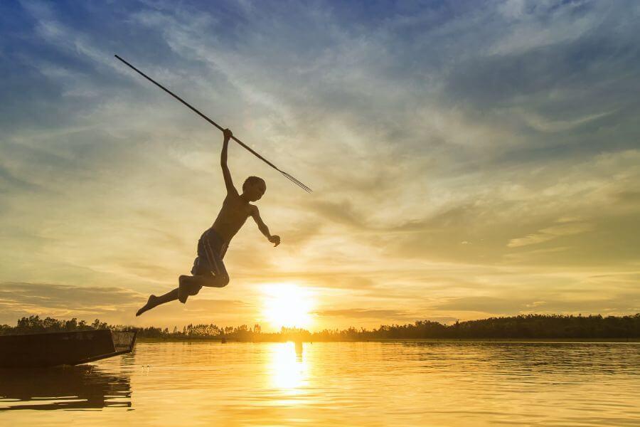 Myanmar Inle Lake jonge visser