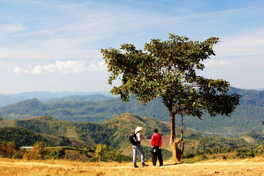 Myanmar Kalaw trekking landschap