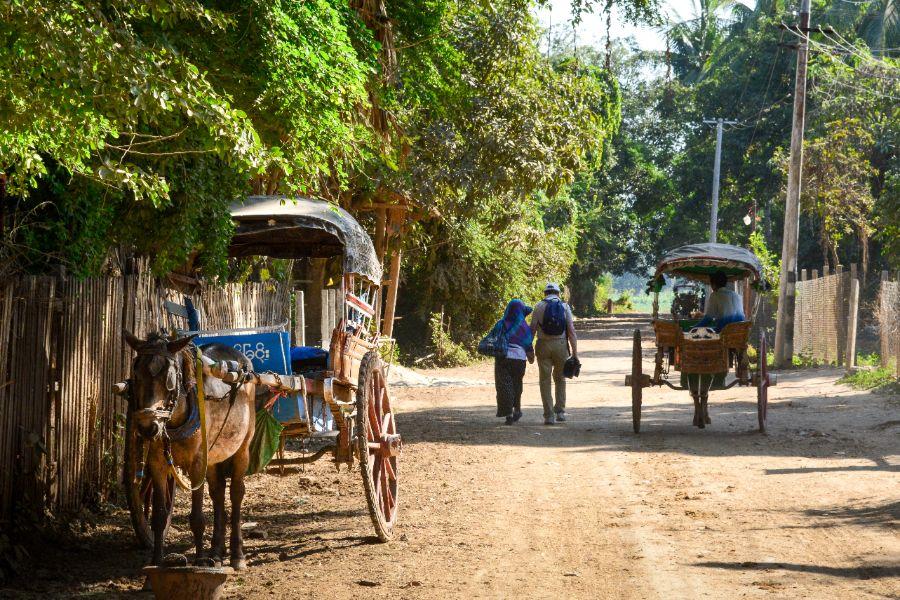 Myanmar Mandalay Inwa Ava plattelandse leven paardenkar