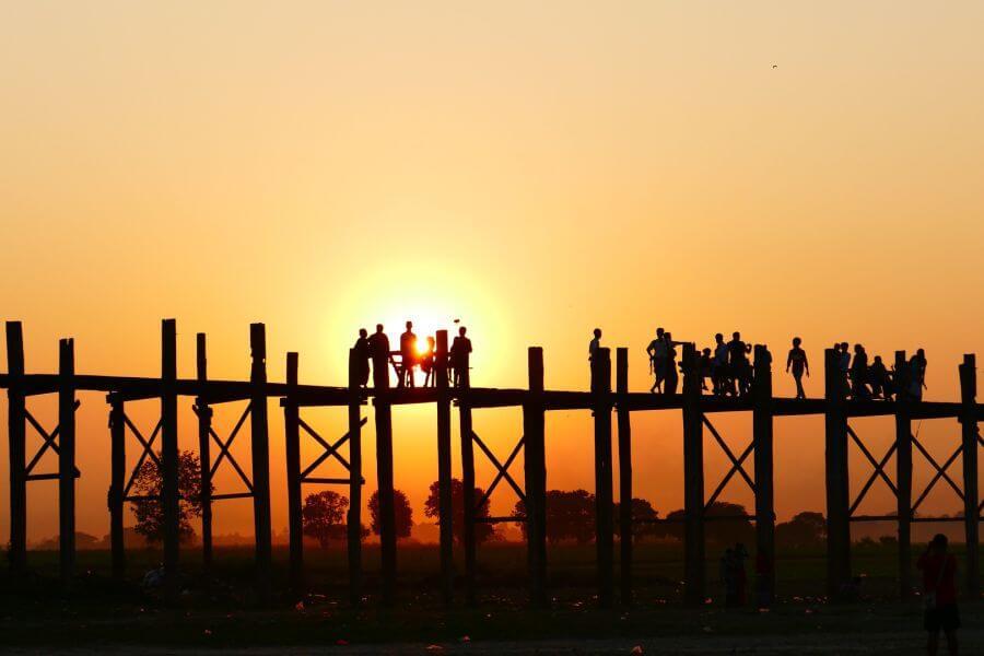 Myanmar Mandalay U Bein brug 2