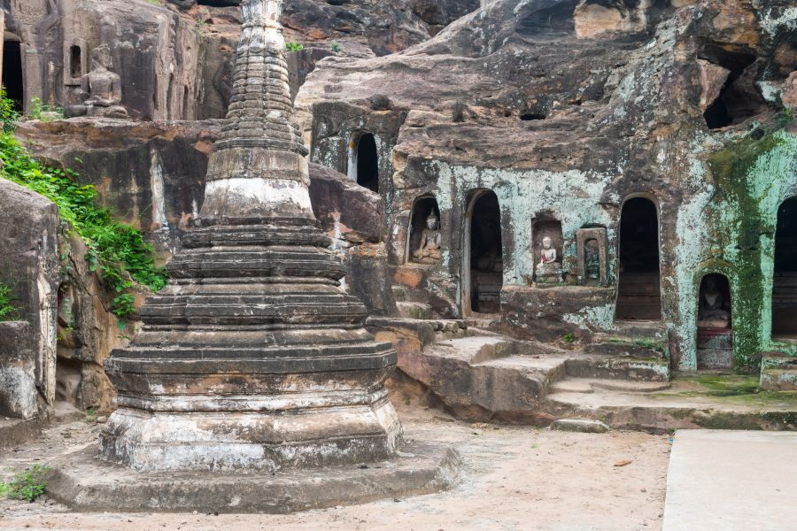 Myanmar Monywa Po Win Taung Cave tempel grot
