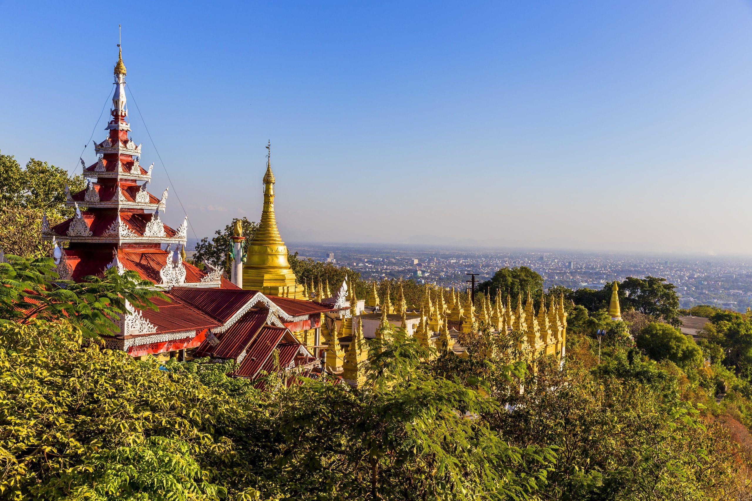 Myanmar Sagaing Hill Mandalay tempel pagode
