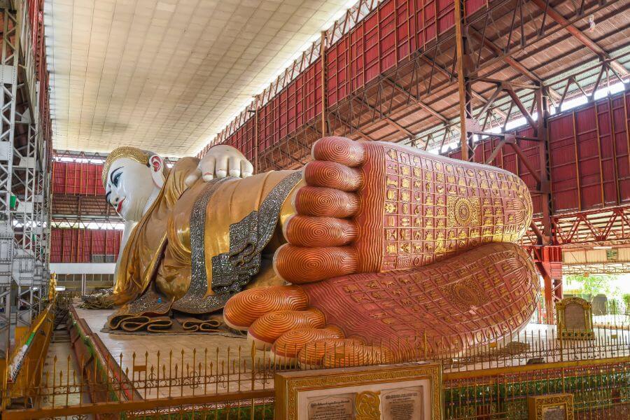 Myanmar Yangon Chaukhtatgyi boeddha